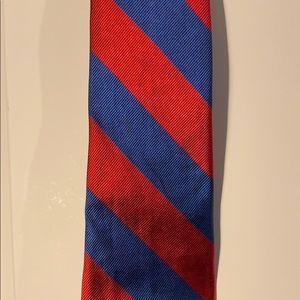 2018 red blue stripe by Robert talbott tie silk